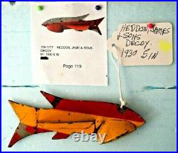 1930 James Heddon & Sons 5 Metal Folk Art Fish Spearing Decoy Ice Fishing Lure