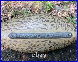 1930s CHARLES PERDEW Illinois River Hen Mallard DUCK DECOY-CALL-ORIGINAL WEIGHT