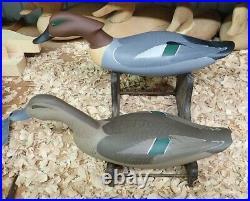 1999 Green-Wing Teal Swimmers Decoys by John Clark of Havre de Grace MD #1