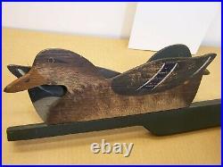 #4 Old Reynolds Chicago Duck Decoy 3 Way Illinois River Set Original Comb Paint
