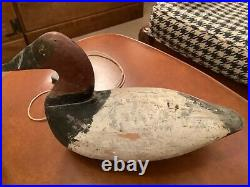 Antique Canvasback Drake Duck Decoy