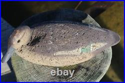Antique Green-Winged Teal Hen Hand Carved Duck Decoy