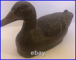 Antique Herters Model Perfect 30/40s Wood Carved Duck Decoy Hen Mallard