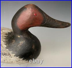 Antique Mason Duck Decoy Challenge Grade Snake Head Glass Eye Canvasback Drake