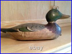 Antique ORIGINAL HAYS Wing Teal duck decoy c1920, duck with paint and glass eye