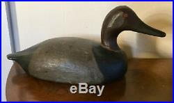 Antique Paint Decorated Carved Wood Duck Decoy Mallard Canvas Back Orig Paint