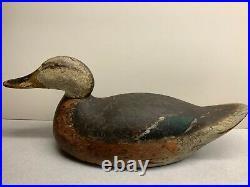 Antique Vintage Wood Duck Decoy MASON Mallard Hen