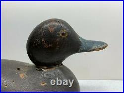 Antique Vintage Wood Duck Decoy MASON Scaup Blue Bill Hen