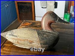Antique Wood Carved Duck Decoy