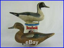 Antique Wood Duck Decoys Mitchell Pintail Pair Maryland Estate Goose