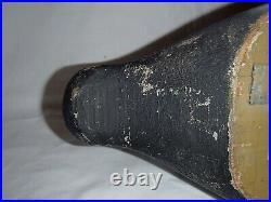 Antique wooden drake canvasback decoy