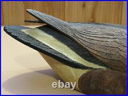 Atlantic Brant Goose Decoy Original Paint Carved By Danny Lee Heuer Rare LOOK