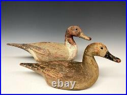 Bill Neal Pintail Pair Duck Hunting Decoys Decoy Wood Carved 1939 RARE