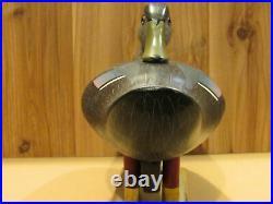 Black Mallard Duck Decoy Turned Head Preener Original Working Paint Vintage LOOK
