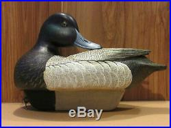 Bluebill Drake Working Duck Decoy Original Paint Hand Carved by Danny Lee Heuer