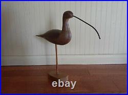 Carved Wooden Shorebird Duck Decoy Signed Capt Harry R Jobes