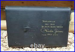 Charlie Joiner (1921-2015) Chestertown MD 1941 Replica Black Duck Decoy Can