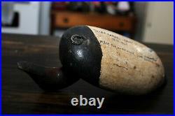Dated 1898 Chesapeake Bay Maryland Canvasback Duck Gunning Decoy Sam Barnes