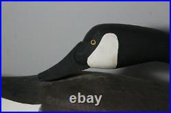 Dave Walker Signed Preening Canada Goose Working Carved Wood Duck Decoy