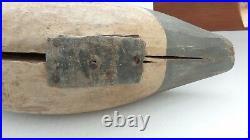Davison Dave Hawthorne Carved Wood MERGANSER Duck Decoy on Stand