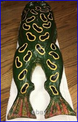 Duluth Fish Decoys DFD Perkins 21 OPEN MOUTH BULBOUS LARGE FROG Spearing Decoy