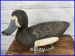 Excellent Pair of Cliff Avann Bluebill Duck Decoys All Original Ontario Canada