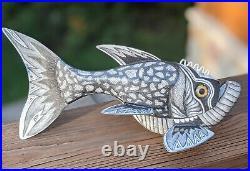 Exceptional Folk Art Fish Spearing Decoy By Joe Fulton