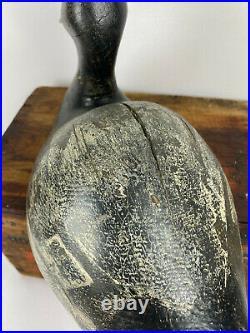 Exceptional Frank Strey Drake Bluebill Duck Decoy, His Best Form Oshkosh, Wi