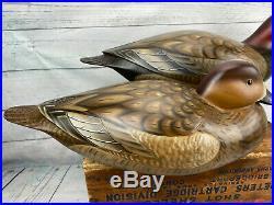 Exceptional, Unused Jode Hillman Mullica Hill, NJ Redhead Duck Decoy Pair