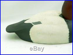 Famous Delaware Top Decoy Carver William Veasey 1980 Canvasback Drake Duck Decoy