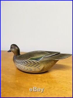 Fantastic Hen Greenwing teal Sean Sutton. Paulsboro NJ. Duck decoy
