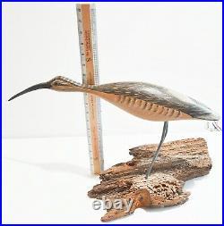 Fine shore bird decoy by Robert Watson Sr. Of Chincoteaque, VA