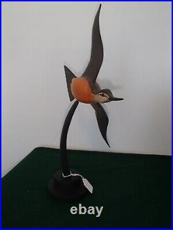 Flying Bar-tailed Godwit shorebird decoy by Lou Reineri Chincoteague, Virginia