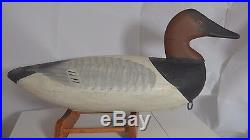Great Old Samuel T. Barnes Canvasback Duck Decoy