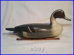 Illinois River Pintail Decoy by Charles Perdew repainted and varnished