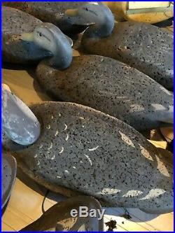 L. L. Bean Cork Decoys Black Ducks LOT OF 16