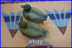 Labeled Carry Lite Paper Mache Alert Heads Duck Decoy Salesman Sample Miniature