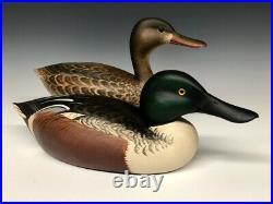 Marty Hanson Shoveler Pair Duck Hunting Decoys Decoy Carved Wood Minnesota