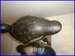 Mason Bluebill Decoy Pair Premier Grade Duck Decoys Original C. 1900