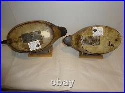 Mason Canvasback Decoy Pair Premier Grade Duck Decoys Original