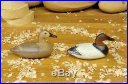 Miniature Canvasback Decoys By Bob Litzenberg S/D 1992