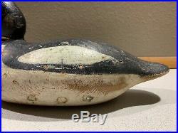 Old Vintage Wooden Duck Decoy MASON Diver COMMON GOLDENEYE