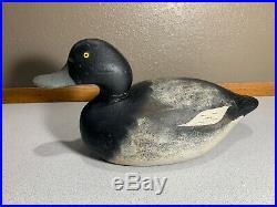 Old Vintage Wooden Duck Decoy MASON Scaup Bluebill Premium