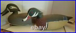 Pair J. P. Hand, Goshen, Cape May County, NJ. Hollow Wood Duck working decoys