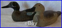 Pratt Bluewing Teal Pair Wood Duck Decoys