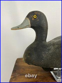 RARE Roger Dolson RD Branded Hen Bluebill Duck Decoy Lake St. Clair Ontario