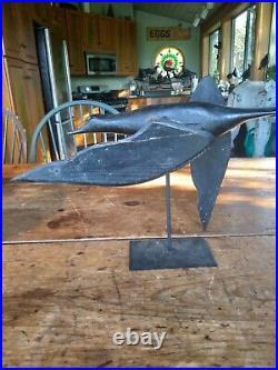 Rare C1925 Carved Crow Flying Gunning Decoy Whirlygig