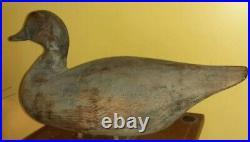 Rare Ned Burgess Oversized Pintail Decoy Churches Island Currituck, NC Shorebird