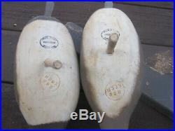 Rare Vintage Wisconsin Wood Duck Standing Pair Decoys