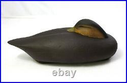 Rare Vtg Al McCormick Wood Carving Cork Duck Decoy Signed